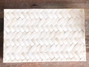 Large Braided Box - Bone - White - Nolan & Co
