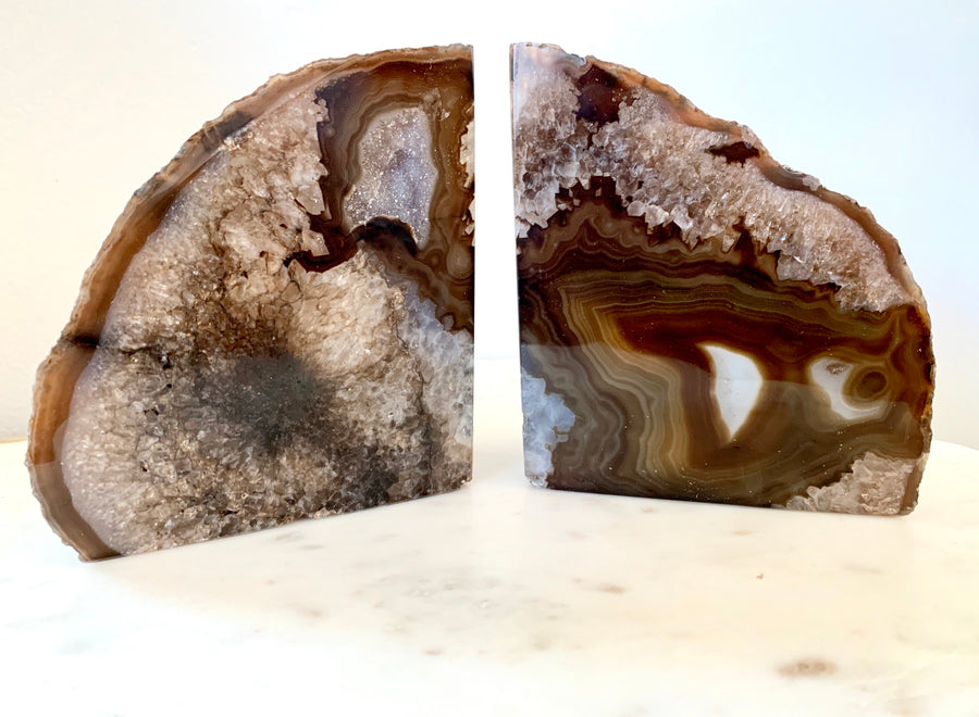 Brazilian Agate Book Ends (C) - Set of 2
