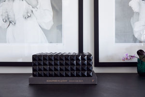 Black Studded Horn Box - Rectangular - Nolan & Co