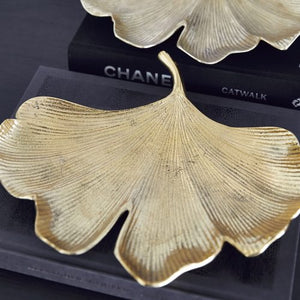 Gingko Leaf Tray - Brass - Nolan & Co