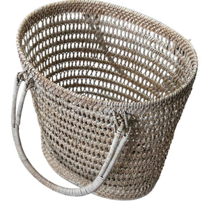 Natural Rattan Basket with Handles - Nolan & Co