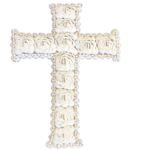 Decorative Shell Cross - Medium - Nolan & Co