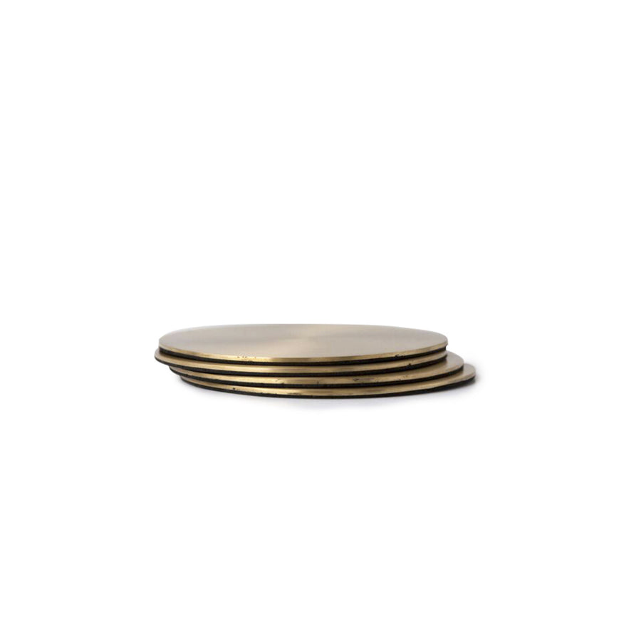 Round Coasters - Brass - Set of 4 - Nolan & Co