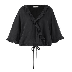 The Sistine Blouse - Onyx - Nolan & Co
