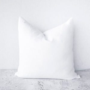 100% Stonewashed European Linen Cushion - White - Nolan & Co