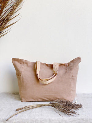 Ramie Bag - Chalk & Blush - Nolan & Co