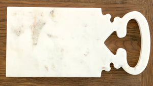 Jaipur Marble Platter / Board - One Handle - Nolan & Co
