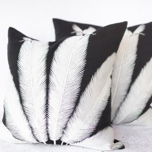 Palmyra Cushion - White Palm