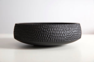 Textured Hand Carved Bowl - Japan Black - Nolan & Co