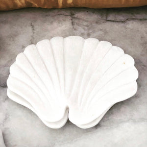 L U M A - Small - Peacock Shaped Marble Soap Dish - Nolan & Co