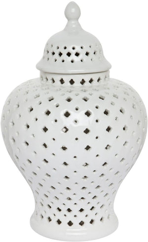 Minx Temple Ginger Jars - White - Nolan & Co