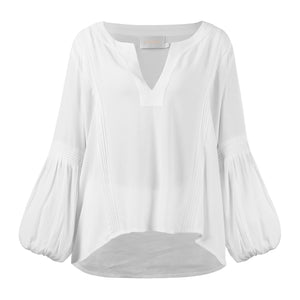 The Meiji Blouse - White - Nolan & Co