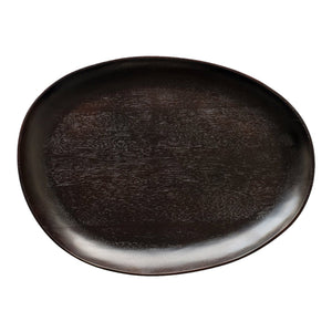 Acacia Oval Platter - Black - Nolan & Co
