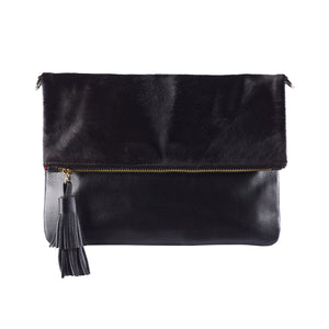 Oversized All Black Clutch - Nolan & Co