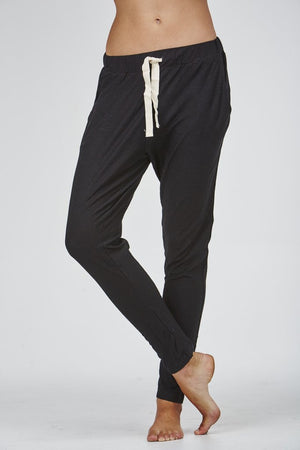 Slub Lounge Pant - Black - Nolan & Co