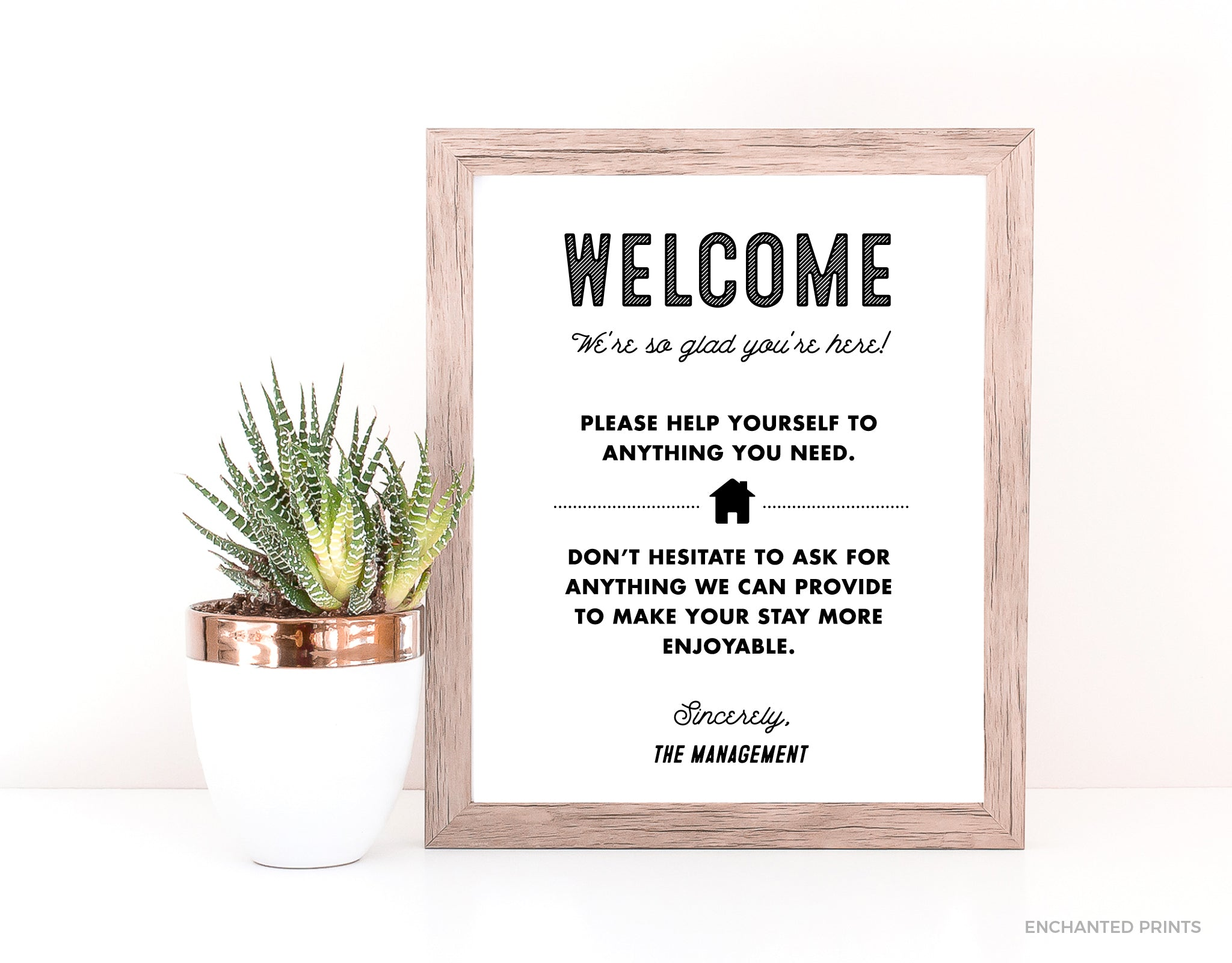 Retro welcome sign