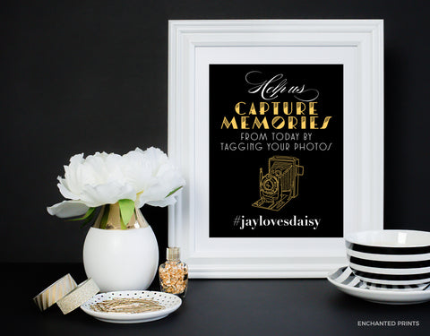 Gatsby style hashtag sign