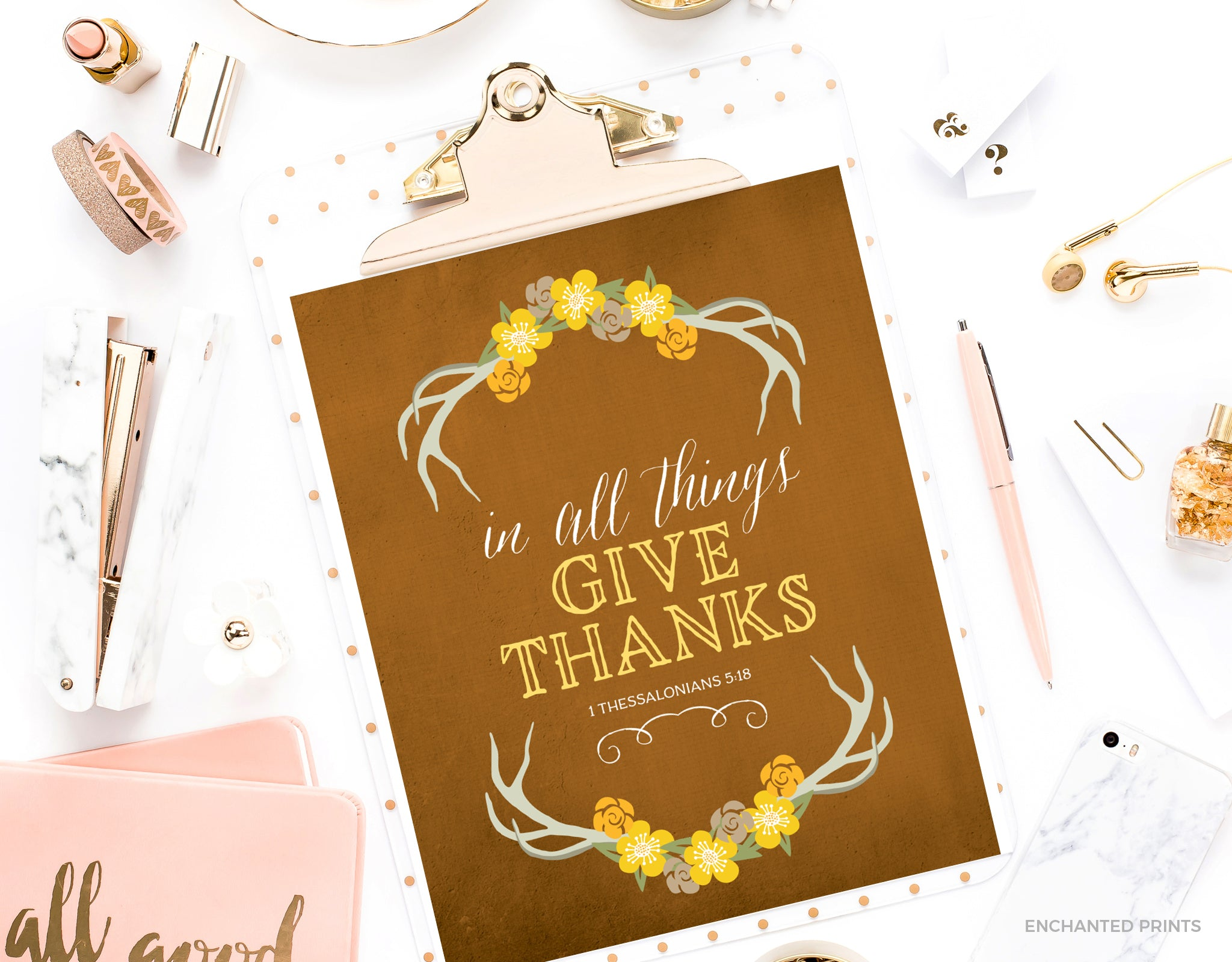 In all things give thanks, from 1 Thessalonians 5:18
