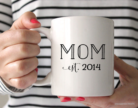 Mom Established Year Mug