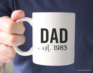 Dad Established Year Mug
