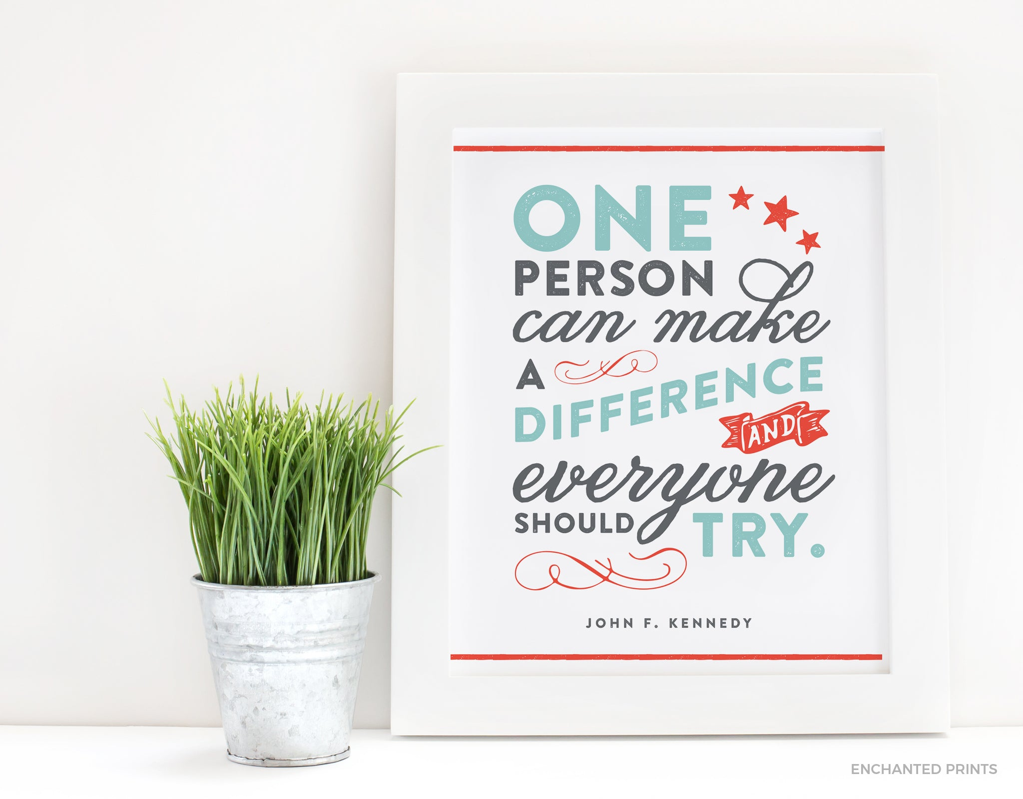 One person can make a difference, from John F. Kennedy