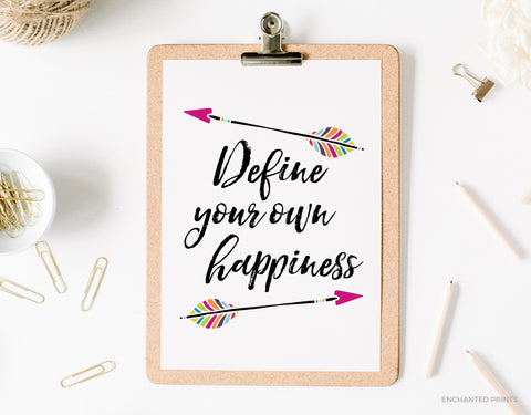 Define your own happiness