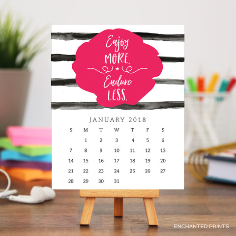 2018 Motivational Desk Calendar