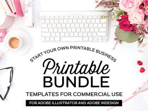 Start Your Own Printable Business Template Bundle, for Adobe Illustrator and Adobe InDesign