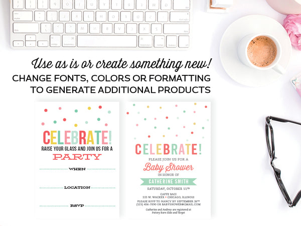 Invitation Templates, Adobe InDesign Edition