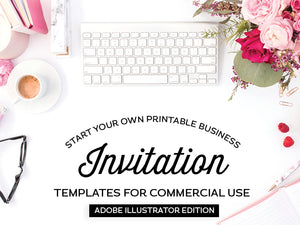Invitation Templates, Adobe Illustrator Edition