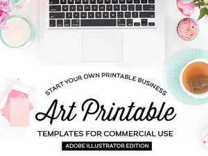 Art Printable Templates, Adobe Illustrator Edition