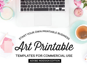 Art Printable Templates, Adobe InDesign Edition