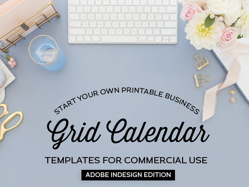 Grid Calendar Templates, Adobe InDesign Edition