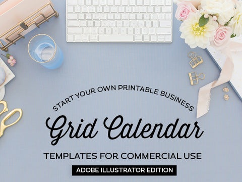Grid Calendar Templates, Adobe Illustrator Edition