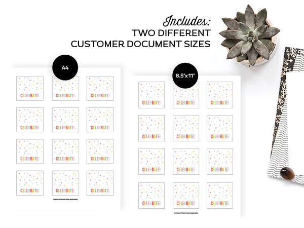 Sticker Templates, Adobe Illustrator Edition
