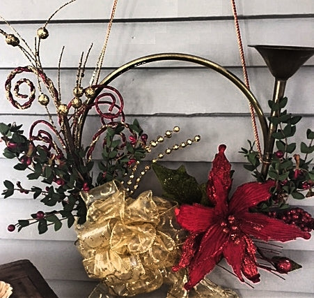 Holiday Brass Decorated Bugle (1) (SOLD)