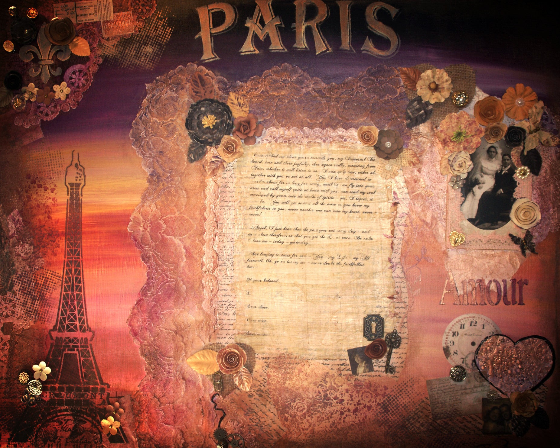 Love, Paris. Mixed Media - Abstract Artwork by Nancy Chovancek Mixed Media - abstract artwork Mixed Media - zentangle artwork Abstract Artwork by Nancy Chovancek - 123rf.com