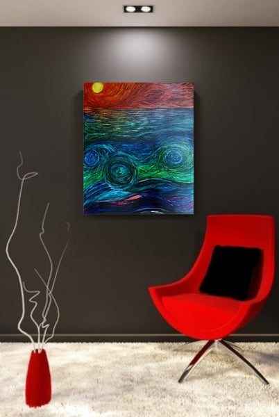 Serenity Sunset - Abstract Artwork by Nancy Chovancek Abstract Art - abstract artwork Abstract Art - zentangle artwork Abstract Artwork by Nancy Chovancek - 123rf.com