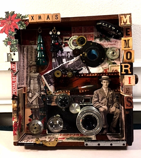 Christmas Memories Assemblage Artwork