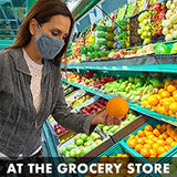 Wearing a mask at the grocery store