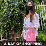 Wearing a mask while out shopping