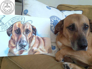 "Custom Watercolor Pet Portrait - Original 9x12"" Painting - SOLD OUT"