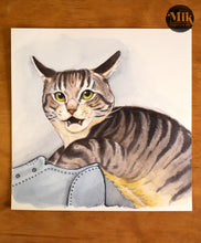 "Original Watercolor Paintings 6x6"" Square - Cats Are The Worst Originals"
