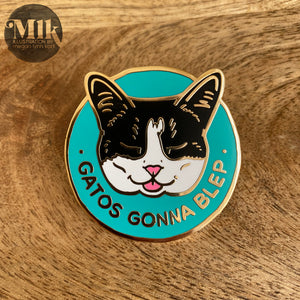 "Kitty Blep - 1.65"" Hard Enamel Pin"
