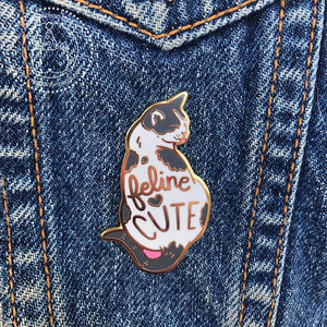 "Feline Cute - 1.65"" Hard Enamel Pin"