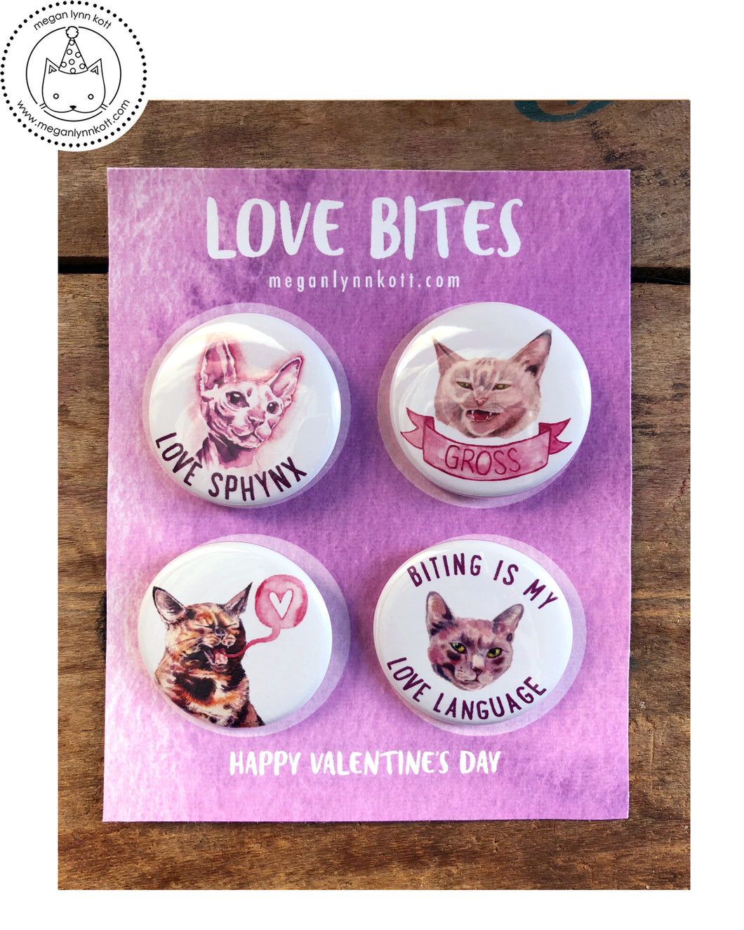 LIMITED EDITION - Love Bites - Set of Four 1.5