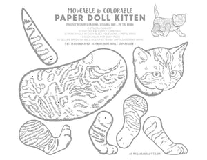 Moveable Cat Activity Page