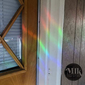 "Cats Are Meowgical Rainbow Prism 5"" Window-Cling"