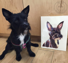 Custom Watercolor Pet Portrait - Original 9x12 Inch Painting