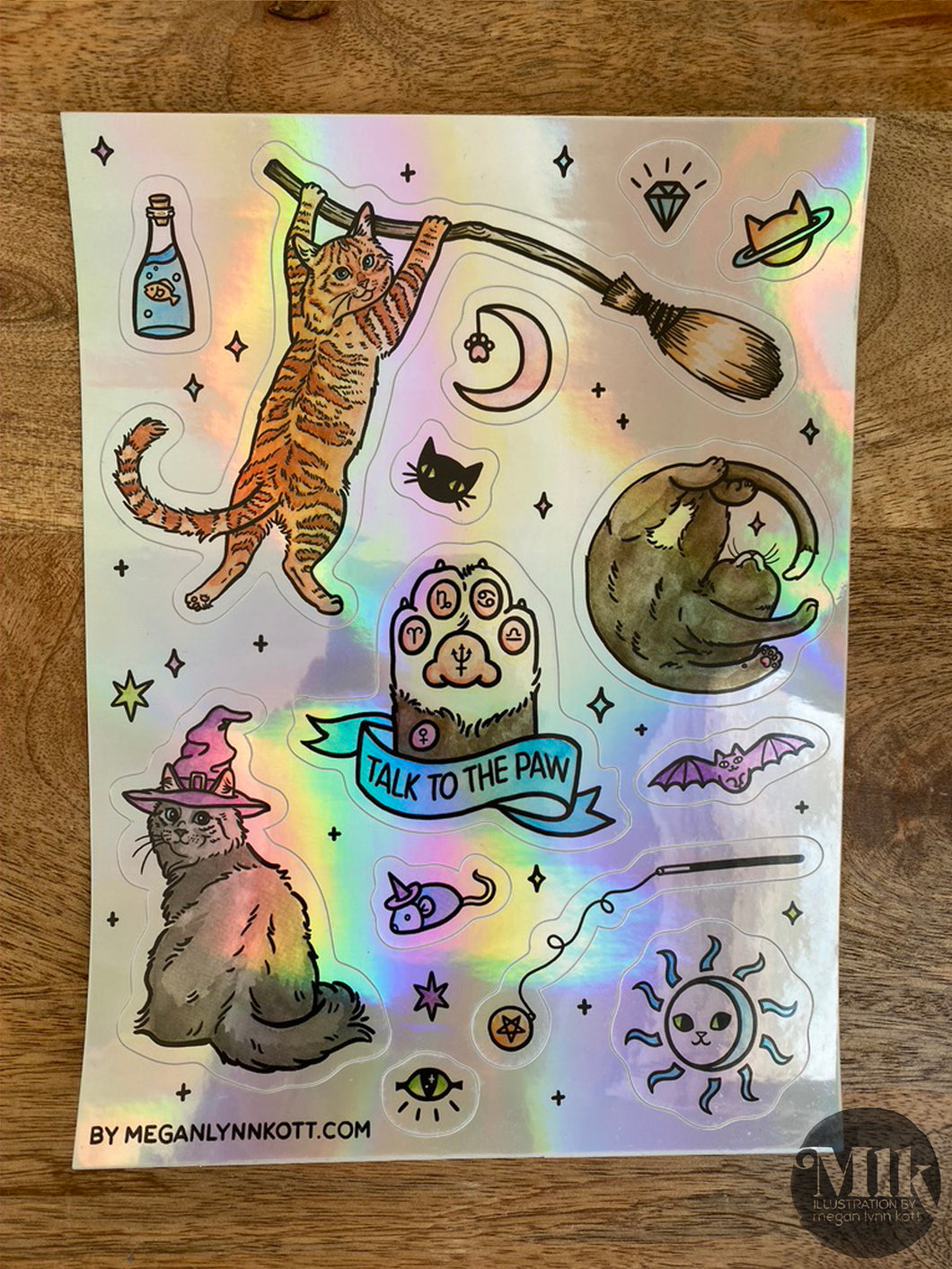 Witchy Kitty Holographic Kiss-cut Sticker Sheet